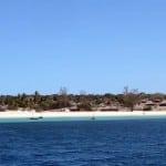 Plage de Nacala depuis le voilier Antsiva