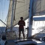 Le voilier Antsiva sous voiles à Madagascar