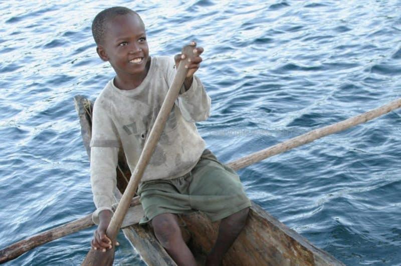 Petit pêcheur à Baramahamay