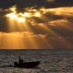Coucher de soleil sur le Geyser