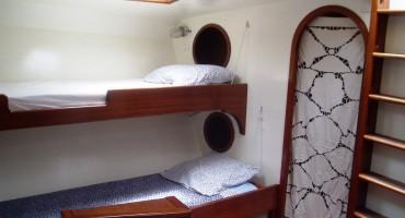 Les couchettes du voilier Antsiva