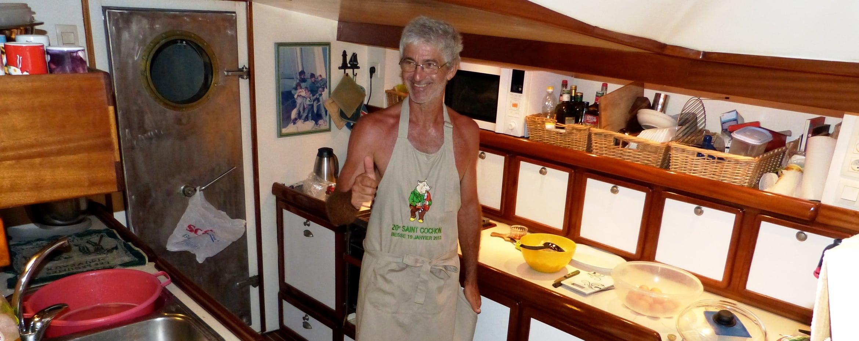 Le cuisinier du voilier Antsiva