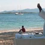 Cérémonie de mariage à la baie des Russes