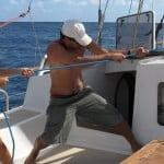 Manoeuvre à la voile à bord d'Antsiva